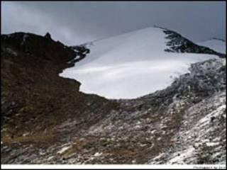 A geleira Chacaltaya em 1994