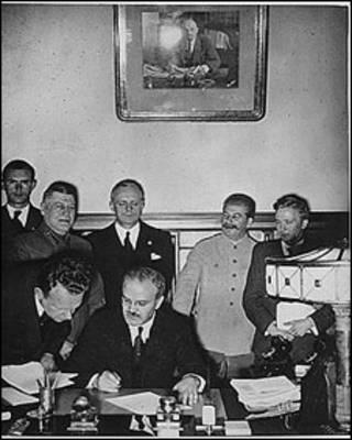 Подписание советско-германского пакта 23 августа 1939 г.