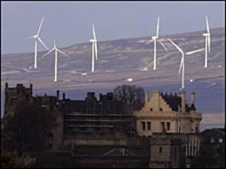 英国的风力发电场