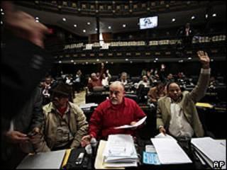 Votación en la Asamblea Nacional de Venezuela el 31 de julio de 2009.