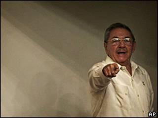 Raúl Castro em discurso na Assembleia Nacional (1/8/09)