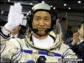 Astronauta chino Nie Haisheng in 2005