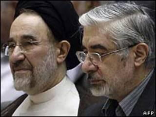 Hai ông Mousavi và Khatami