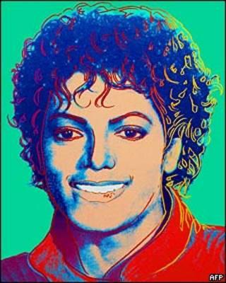 Retrato de Michael Jackson por Andy Warhol. HO/AFP/Getty Images