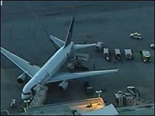 Boeing da Continental no aeroporto de Miami