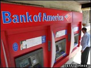 Caixa automático do Bank of America. Foto Getty Images