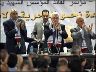 Dirigencia de Fatah en el VI Congreso