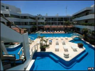 Hotel vacío en Cancún.