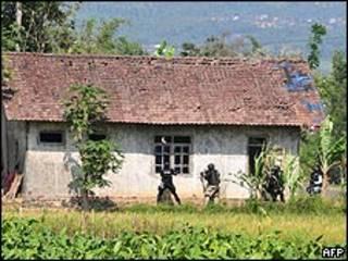 Asalto a la casa en Java donde se encontraban los militantes islamistas