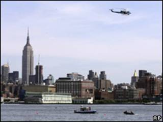 Rescate en el río Hudson en NY