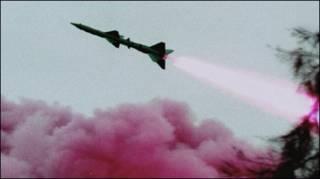 Hình một lần thử tên lửa của Trung Quốc năm 1996-hình AP