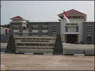 Nhà tù tại Tanjung Pinang, nơi ngư dân Việt Nam bị giam giữ