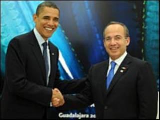 اوباما وكالديرون