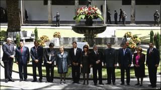 Cumbre del UNASUR en Quito. Agosto de 2009.