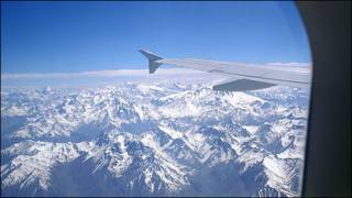 Los Andes, vistos desde un avión.