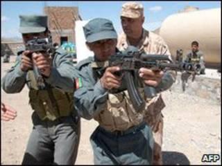 آموزش پلیس افغانستان