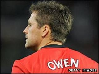 Michael Owen, tiền đạo của Man United