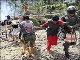 Rescate de damnificados en Taiwán
