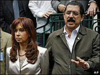 Manuel Zelaya y Cristina fernández
