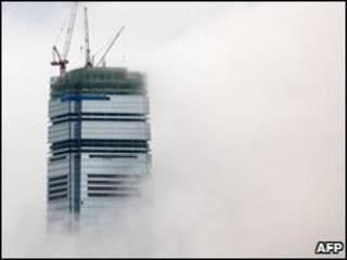 مركز التجارة العالمي سلفه الضباب
