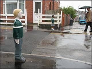 Boneco em Leicester