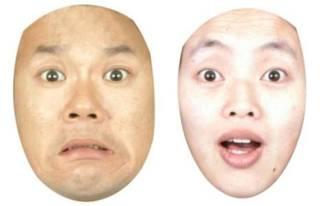 Expressões faciais asiáticas para medo e surpresa (Universidade de Glasgow)