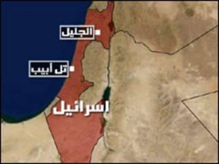 خارطة شمال اسرائيل