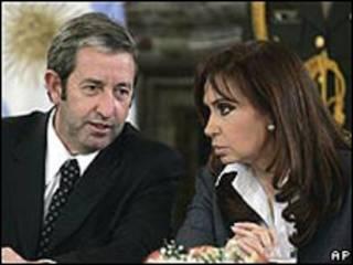 Cristina Fernández y Julio Cobos
