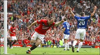 كان هدف المباراة الوحيد من تسجيل واين روني