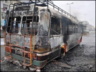 من مخلفات الاضطرابات التي شهدتها كراتشي