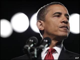 O presidente dos Estados Unidos, Barack Obama, durante discurso nesta segunda-feira (AP, 17 de agosto)