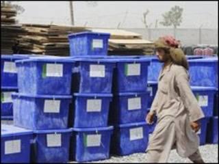 Material eleitoral no Afeganistão