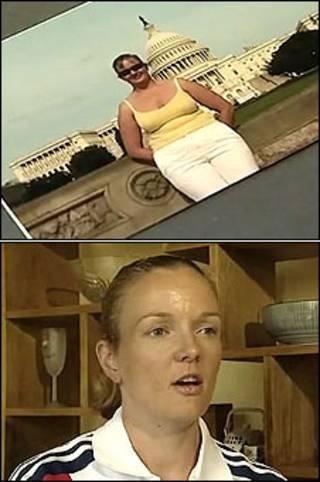 Melanie Ryding antes e depois de perder 25 kg