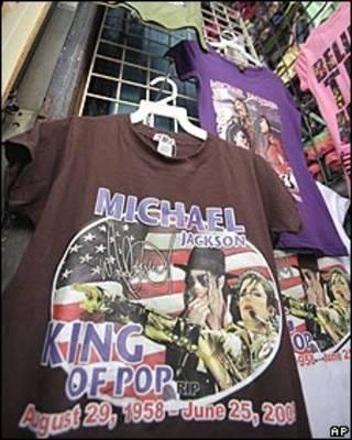 Venta de camisetas de Michael Jackson
