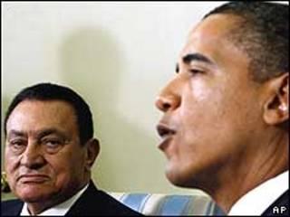 Barack Obama e Hosni Mubarak