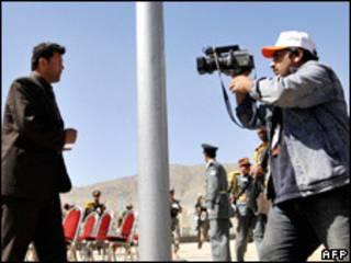 Các nhà báo Afghanistan tác nghiệp