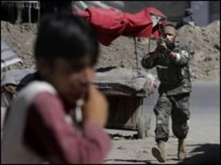 پلیس کابل در صحنه حمله