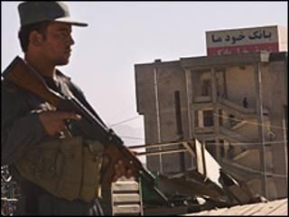 Policía afgano en Kabul
