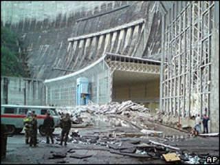 Represa Sayano-Shushenskaya, en Rusia