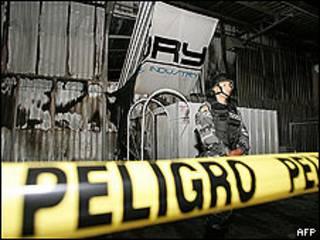 Incendio en la discoteca Factory, de Quito.