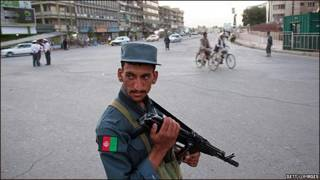 پلیس افغان در روز انتخابات بیستم آگوست