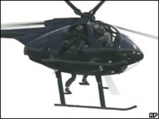 Helicóptero de Blackwater.