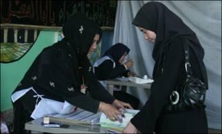 حوزه رای گیری در انتخابات افغانستان