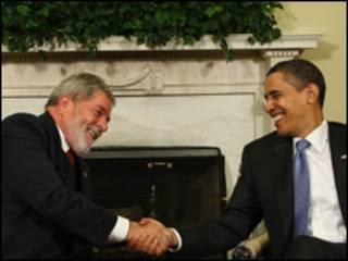 Lula e Obama durante encontro na Casa Branca em março (Ricardo Stuckert/PR )