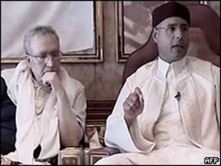 Abdelbaset Ali al-Megrahi y Seif al-Islam
