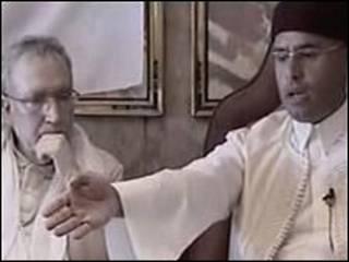سیف الاسلام قذافی و مقراحی