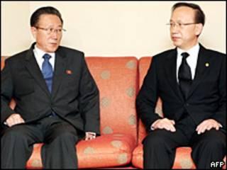 Los delegados de Corea del Norte y del Sur