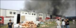 EACC bị cháy trong ngày 22/08/2009 - Ảnh: Agencja Gazeta