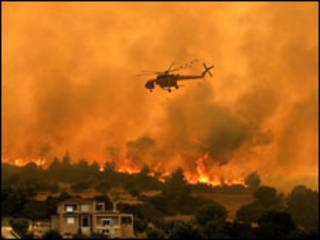 incêndio na Grécia