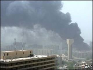 Explosão em Bagdá na semana passada (arquivo)